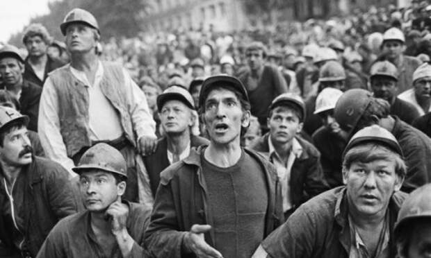 Шахтерские забастовки на Кузбассе