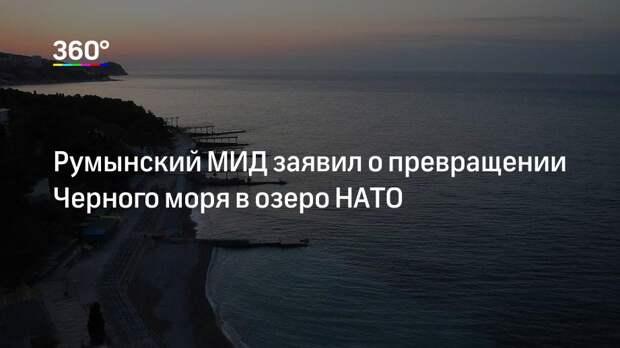 Румынский МИД заявил о превращении Черного моря в озеро НАТО