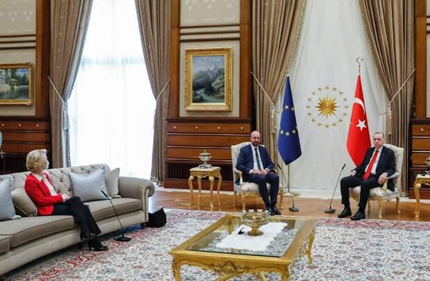 «Диванный заговор»: немцы пытаются понять, намеренно ли Эрдоган поставил в неловкое положение Урсулу фон дер Ляйен