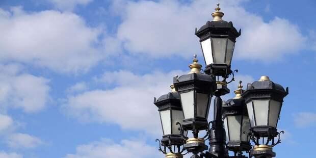 В районе Аэропорт установят 127 дополнительных опор освещения