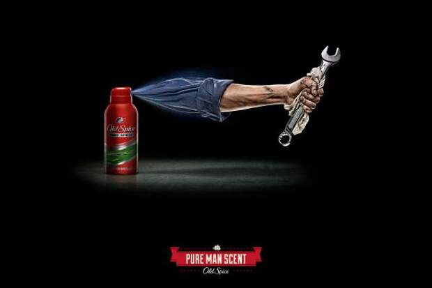 Old Spice: Arms, Mechanic, Old Spice, Proximity, Procter & Gamble Co., Печатная реклама