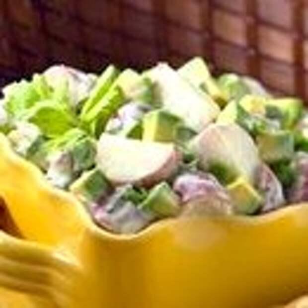 Салат Оливье с авокадо