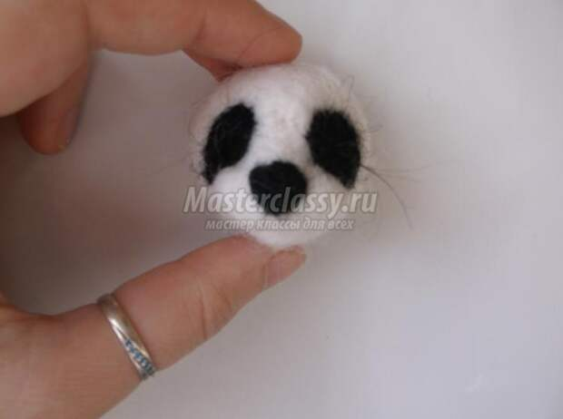валяние из шерсти игрушек. Панда