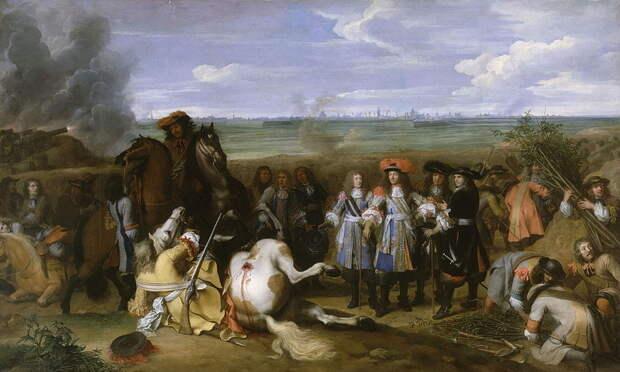 Людовик XIV посещает траншеи - Победа любит усердие   Warspot.ru
