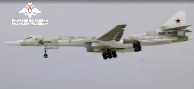 Видео первого полета Ту-160М