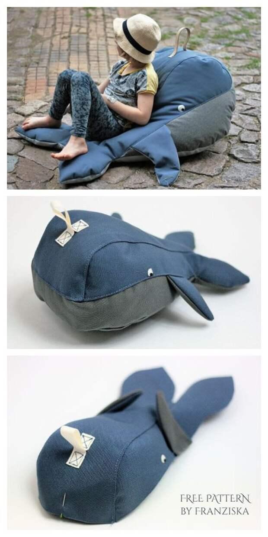Подушка кит (готовые выкройки)