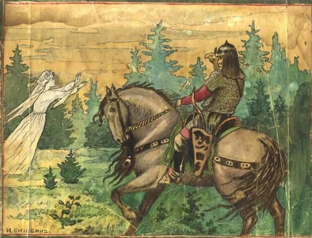 Хотен Блудович — былинный богатырь (Иллюстрация из открытых источников)