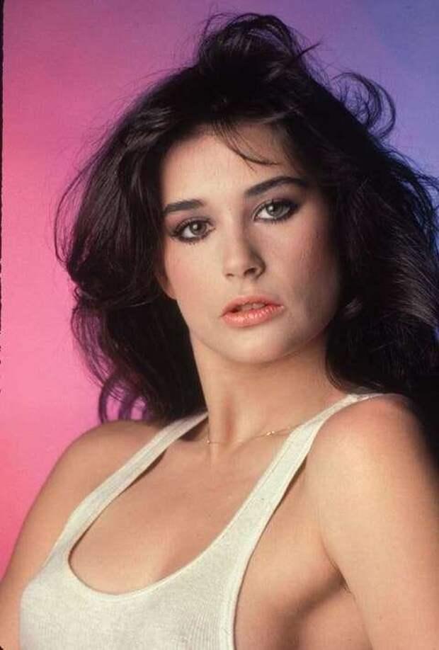 Юная Деми Мур в 1980-х годах