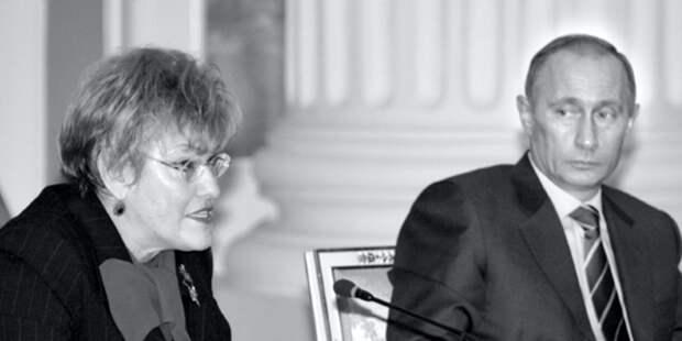Путин попрощался с Людмилой Вербицкой