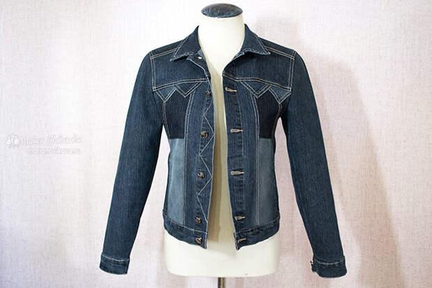 Переделка джинсовой куртки из старой в новую