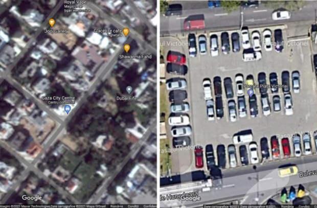 Почему сектор Газа выглядит размытым на картах Google?