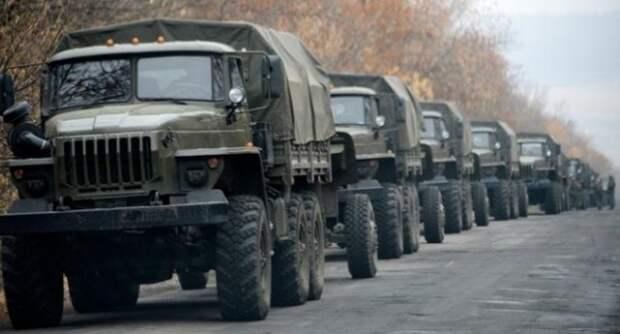 Через пункт пропуска в районе н.п. Вознесеновка в РФ выехали 46 тентованных грузовиков