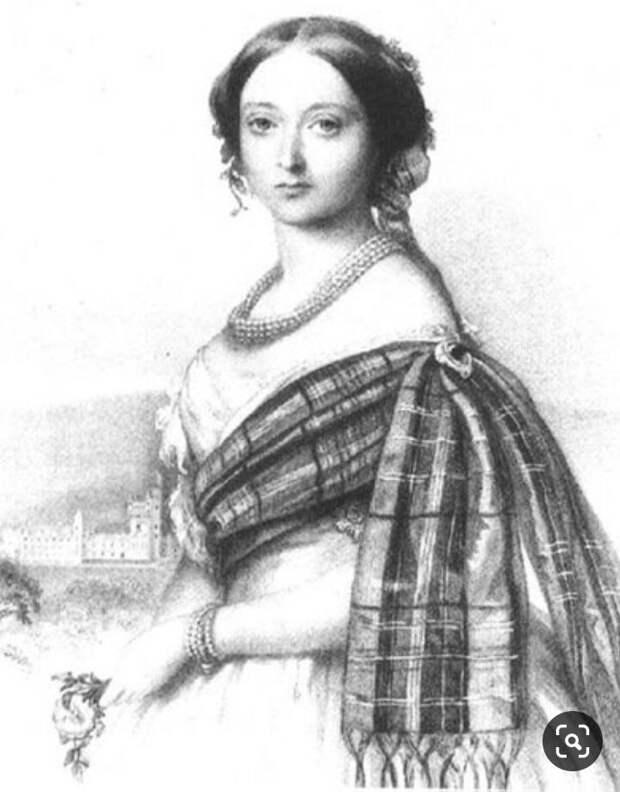 Виктория в юности.