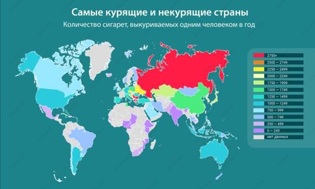 Какие государства на планете самые прокуренные? Какие – самые некурящие? Почему нельзя верить статистике?