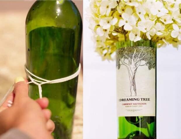 Как обрезать стеклянную бутылку