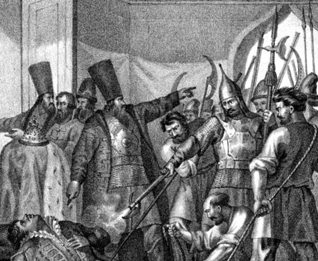 Почему немецкие телохранители Лжедмитрия I не смогли его защитить? Он вооружил их ...