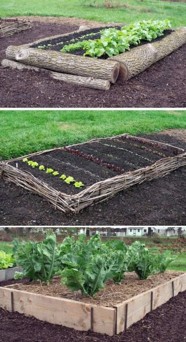 Как оригинально применить бревна в саду