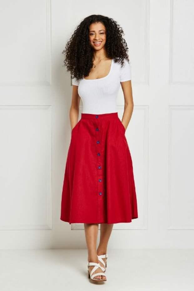 готовые выкройки юбки с карманами скачать и распечатать