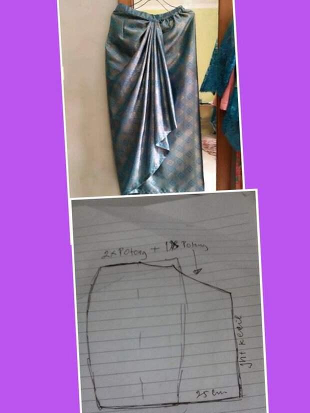 мусульманские выкройки с драпировками