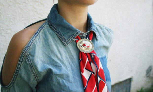 женский галстук боло