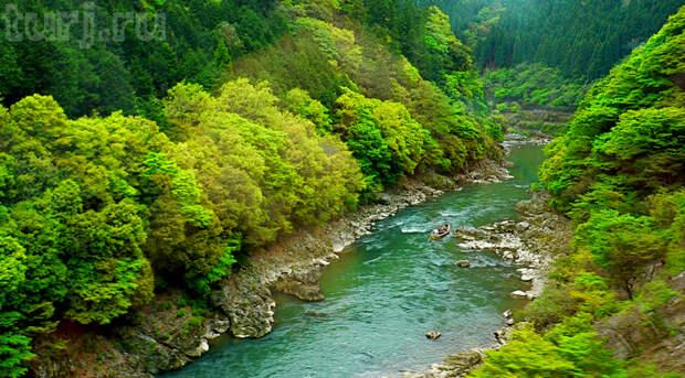 Уголок покоя и умиротворения на берегах реки Ходзу. Япония