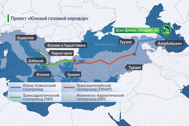 Когда европейские страны получат первый газ по ЮГК