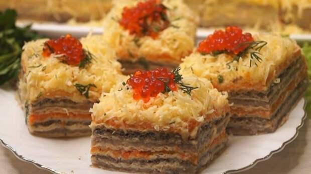 Селёдочный торт. Нежная закуска для любителей солёной рыбки 2