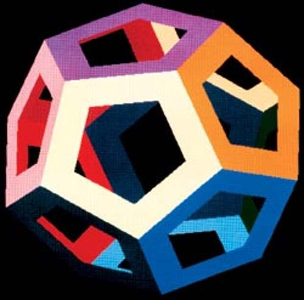 Противоположные грани додекаэдра центрально симметричны друг другу, и поэтому, замыкая такой мир сам на себя, приходится поворачивать его грани перед склейкой на 180 градусов