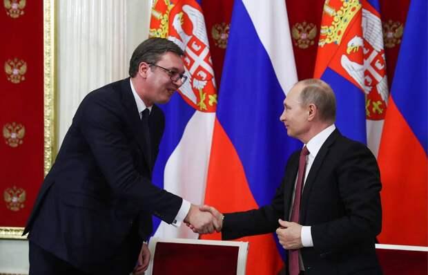 Сербские майданщики вбросили в российские СМИ фейк о ссоре Путина и Вучича