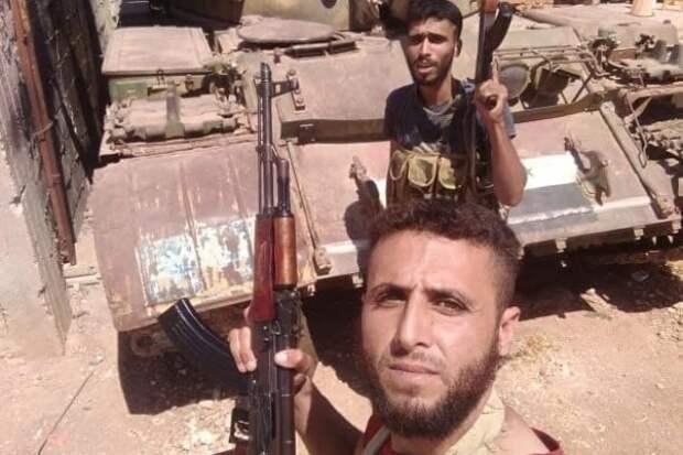 Террористы захватили сирийский танк во время военной операции САА