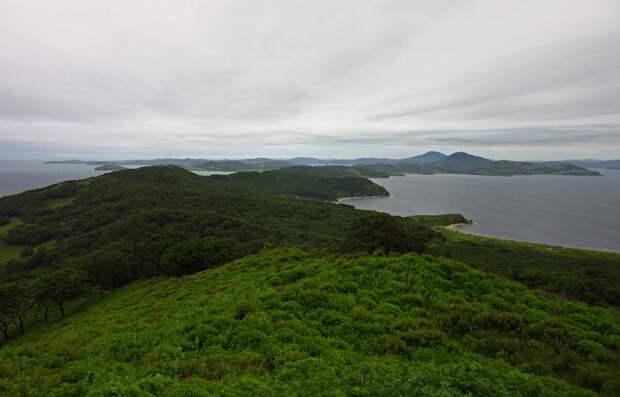 Панорама острова Путятина.