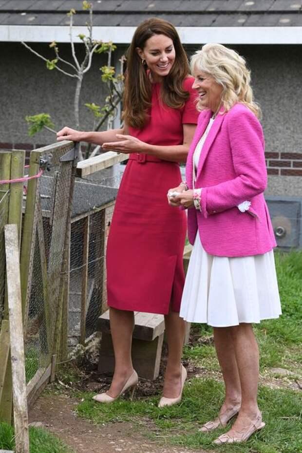Кейт Миддлтон впервые встретилась с супругой президента США Джилл Байден