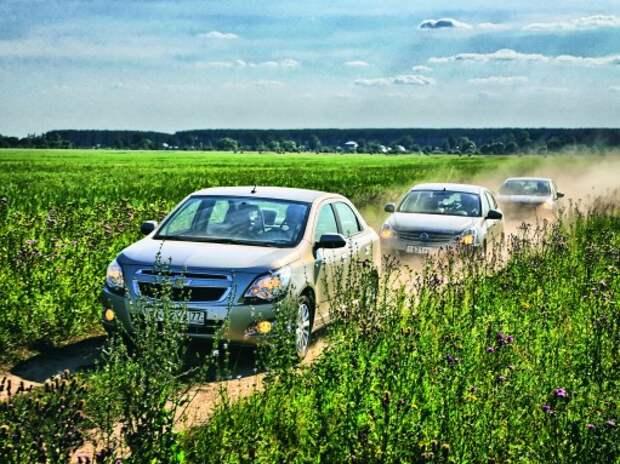 Chevrolet Cobalt, Nissan Almera, Citroen C4 Sedan: по порции поджарки