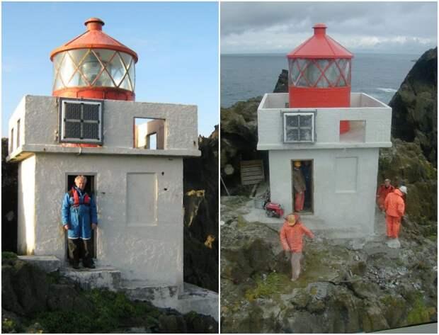 Время от времени на маяк отправляется группа специалистов для проверки работы всех систем (Thridrangar Lighthouse, Исландия). | Фото: helisimmer.com/ bigpicture.ru.