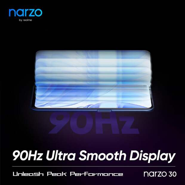 Подтверждено: Realme Narzo 30 получит IPS-экран с поддержкой частоты обновления картинки 90 Гц