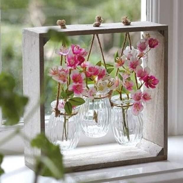 Макраме, кожа и дерево: кашпо для цветочных горшков