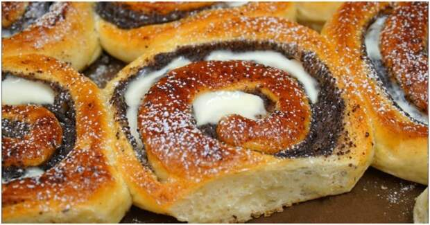 Не просто булочки с маком, а настоящий десерт с заварным маковым кремом