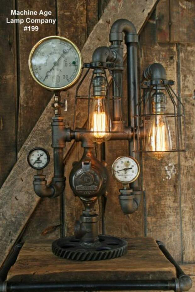 Стимпанк-светильники