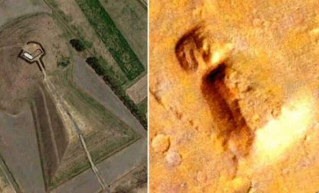 На спутниковых картах Марса нашли искусственный объект