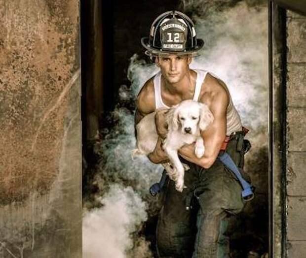 Горячие мужчины и милые животные. Эти пожарные знают, чем порадовать женщин!