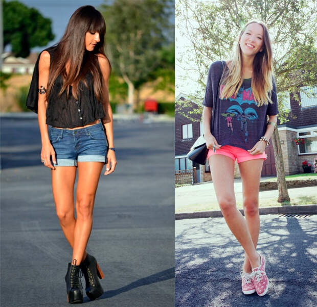 Девушки в коротких шортах