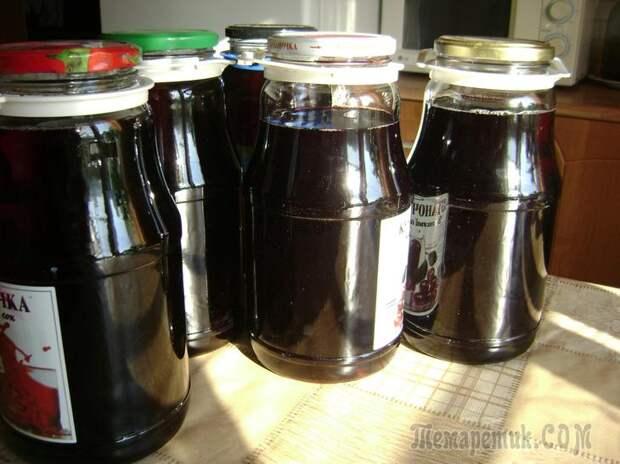 Напиток из черноплодной рябины на зиму впрок