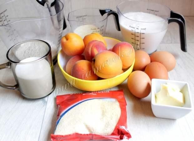 Ингредиенты для манника с абрикосами