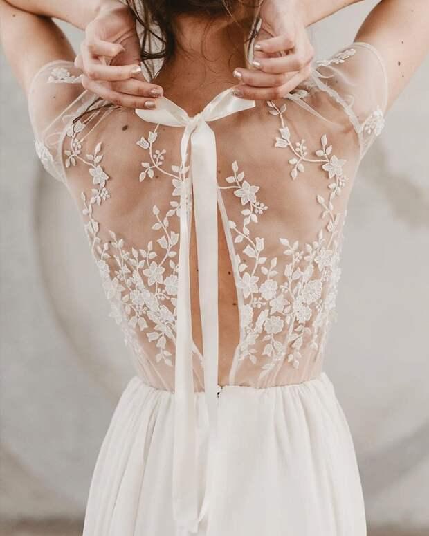 Идеи изумительных спинок для платьев 8