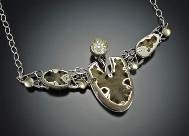 ювелирные образ цитрин, серебро