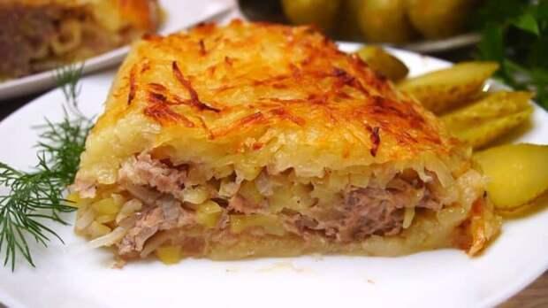 Мясная запеканка с картофельной начинкой. Блюдо, которое особенно понравится мужчинам 2