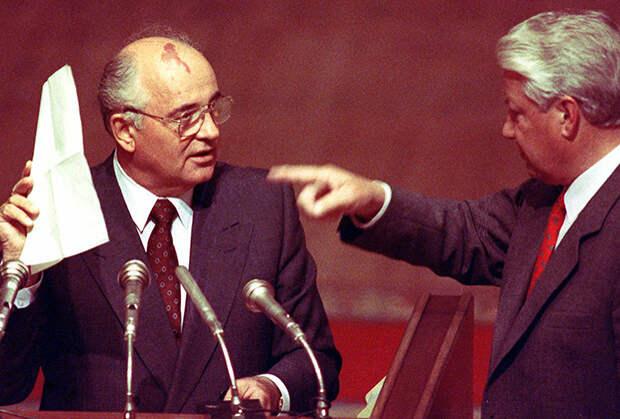фото 1 Михаил Горбачев и Борис Ельцин 1991 год.jpg