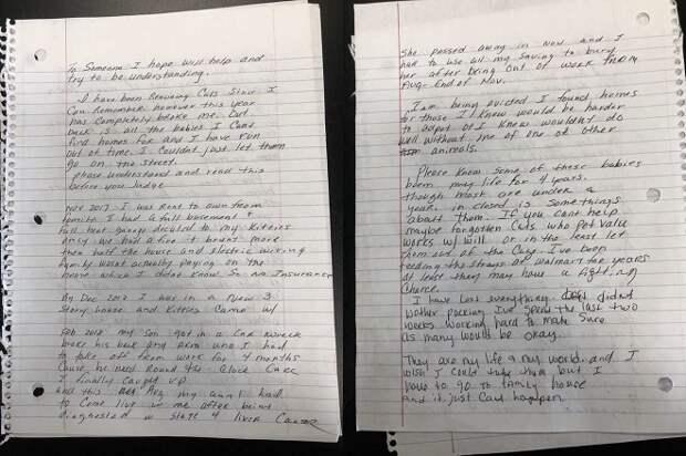 Письмо на двух страницах