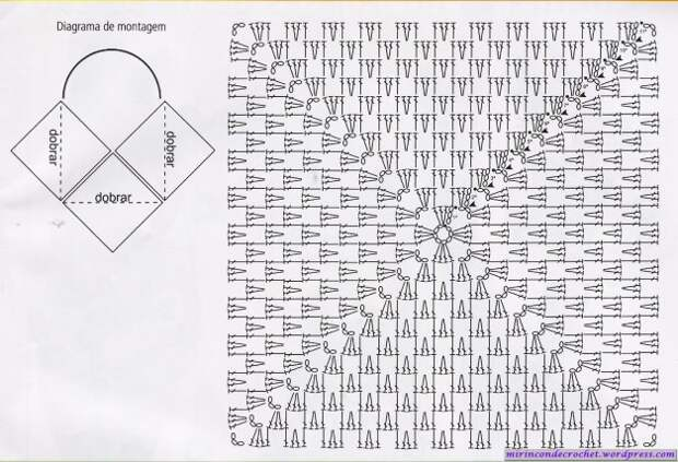 Вяжем крючком. Лёгкая сумка из квадратов