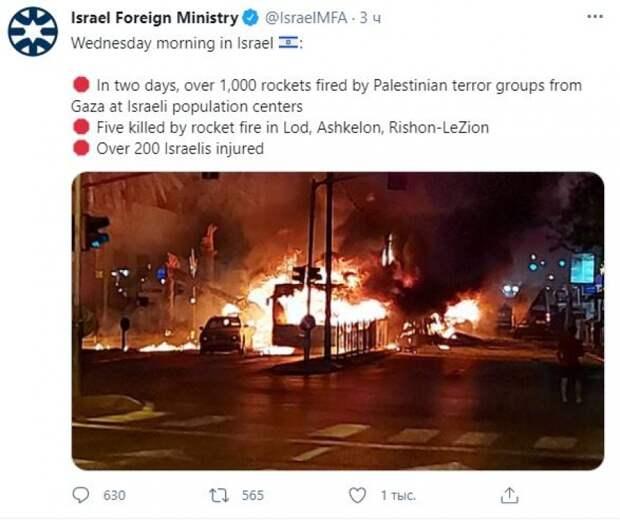 Фотографии последствий ракетных обстрелов в Израиле